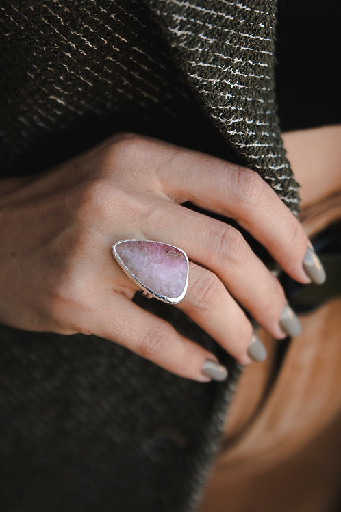 Ring with tourmaline // silver 925