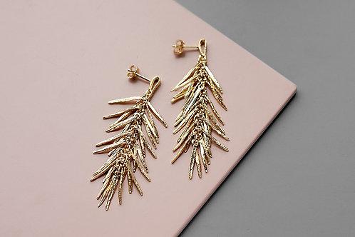 """Earrings """"Rosemarine"""" // gold plating"""