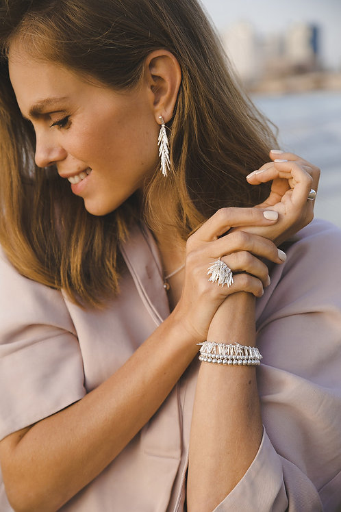 "Earrings ""Rosemarine"" // silver 925"