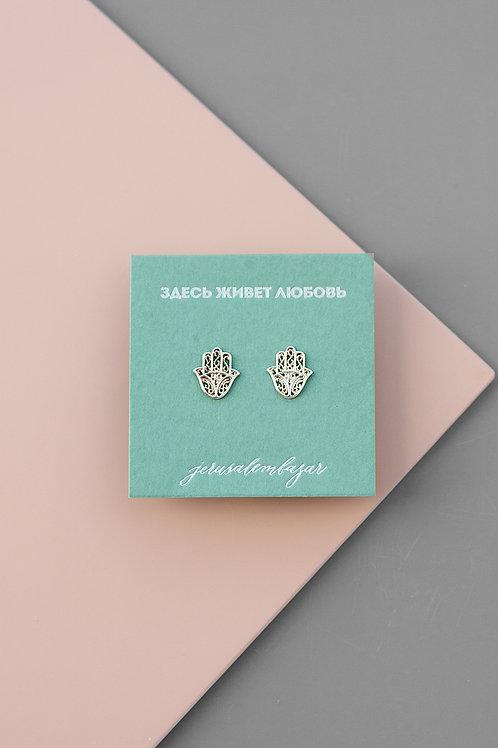 Hamsa earrings // silver 925