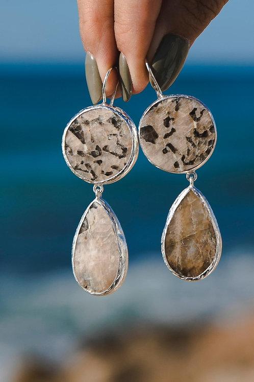 Moonstone Earrings // silver 925