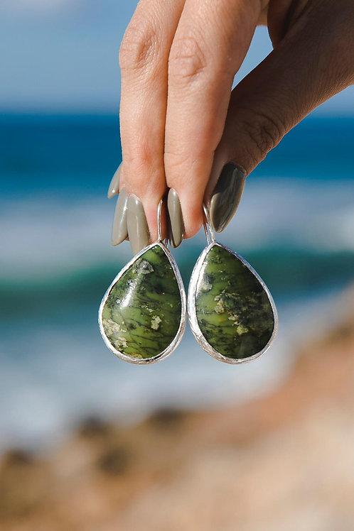 Ophite earrings // silver 925
