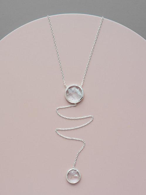 Sautoir with rock crystal // silver 925