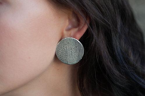Disc earrings // silver 925