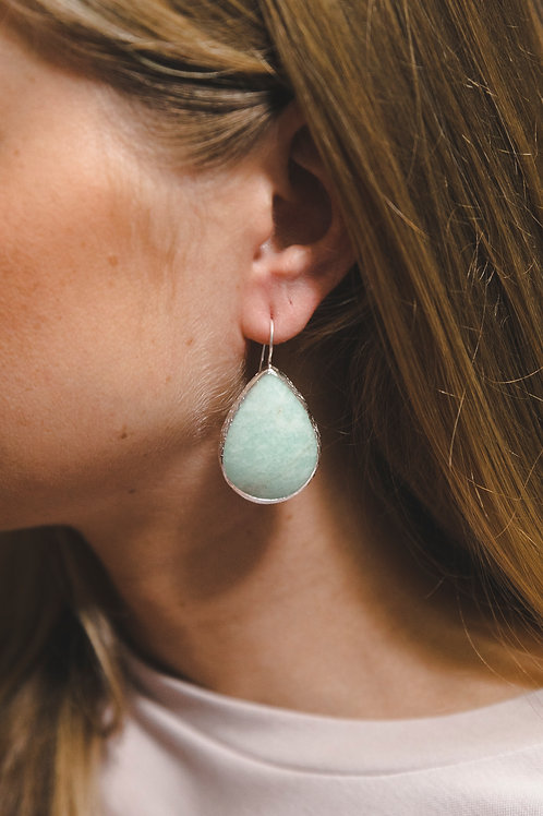 Еarrings with beryl // silver 925