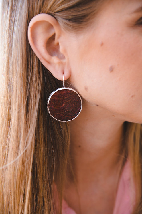Earrings with jasper // silver 925