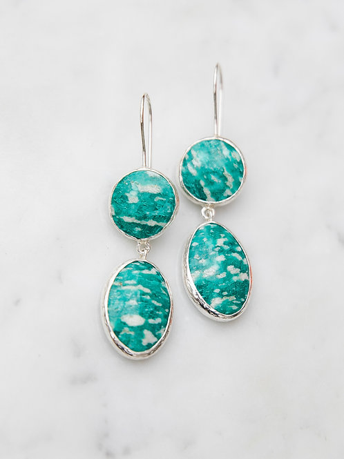 Earrings with amazonite // silver 925