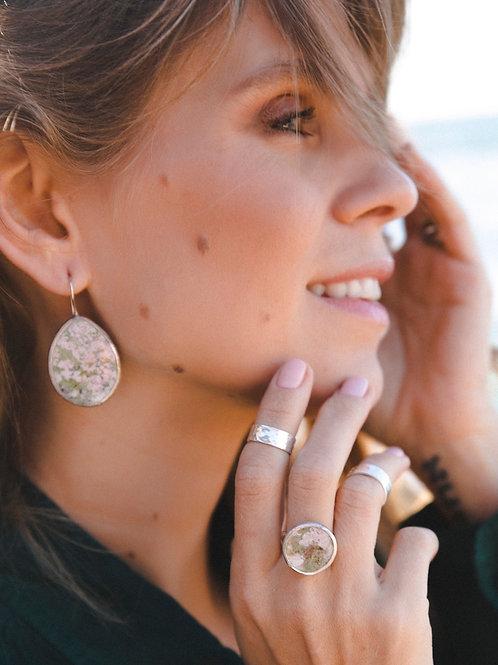 Piemonite earrings // silver 925