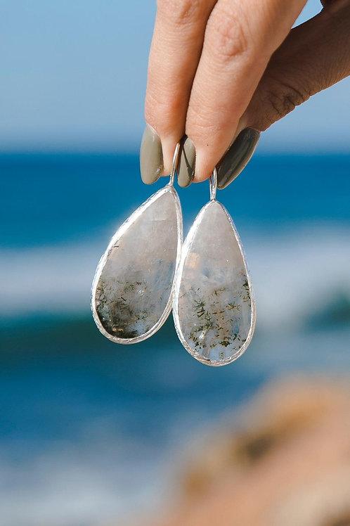 Chlorite Quartz Earrings // silver 925
