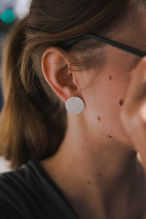 Small disc earrings // silver 925
