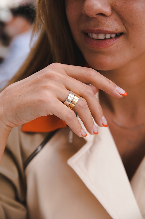 Straight ring // gold plated