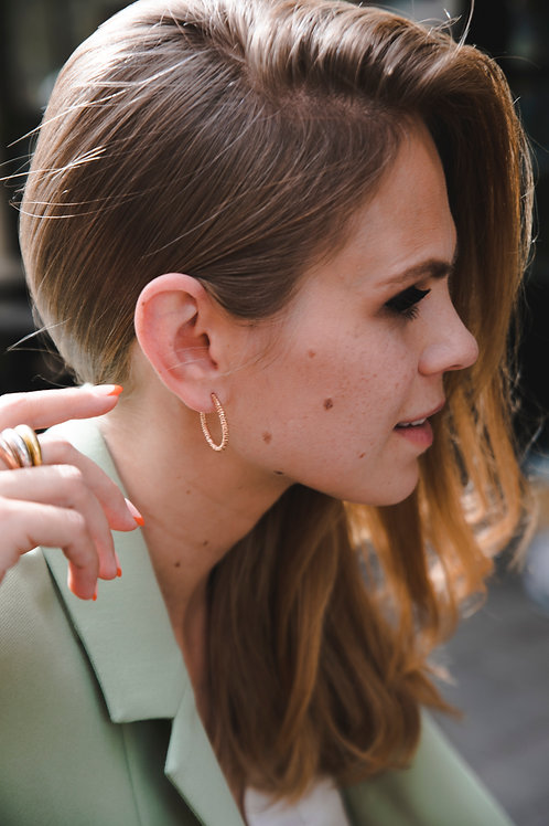 Congo earrings large // rose gold