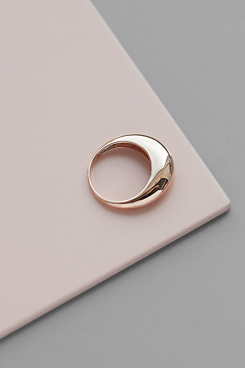 "Thin ""Gal"" ring // rose gilding silver"
