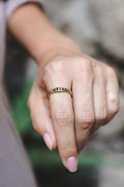 """""""Story"""" ring // gilding silver"""
