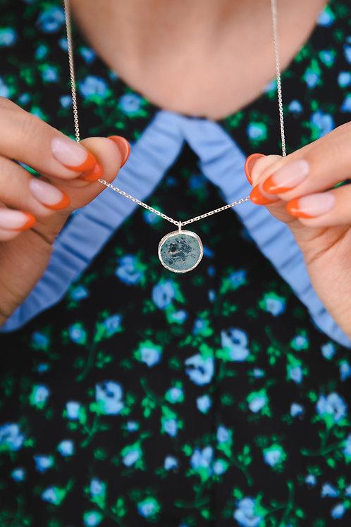 Necklaces with aquamarine // silver 925