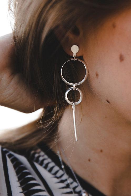 """Earrings """"Weightlessness"""" // silver 925"""