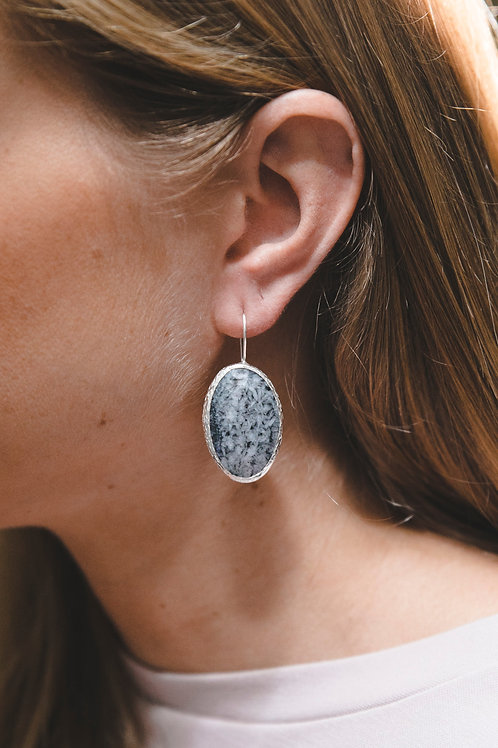 Еarrings with magnesite // silver 925
