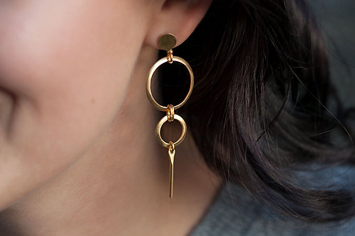 "Earrings ""Weightlessness"" // gold plated"