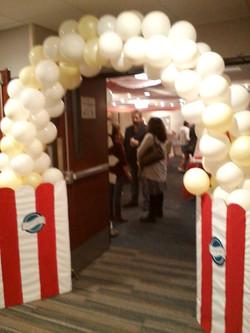 Popcorn arch entry