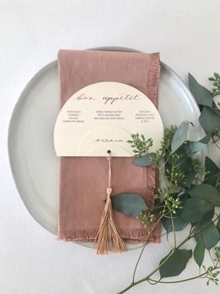 Wedding Menu (Print + Calligraphy Combination)