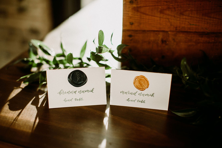 Bride and Groom Escort Cards