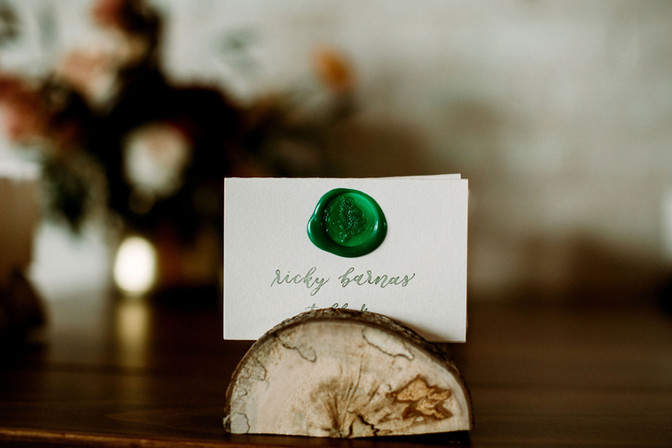 Escort Cards with Wax Seal