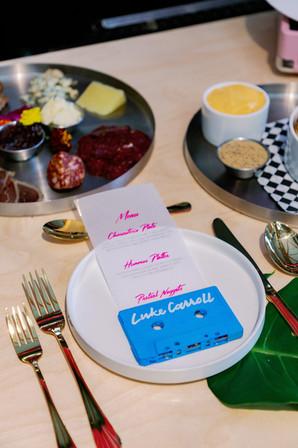 Casette Place Card and Vellum Menu