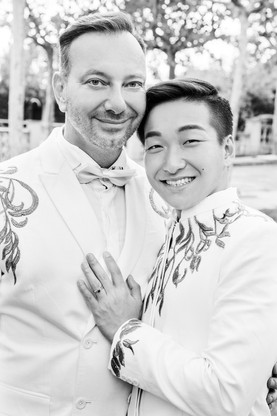 B&W Sitges Gay-Wedding Photographer