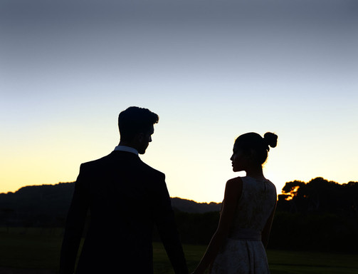 Silhouette. Sitges Wedding Photographer