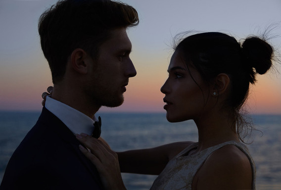 Silhouette. Beautiful Sitges Wedding