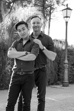 B&W Gay engagement shoot in Sitges