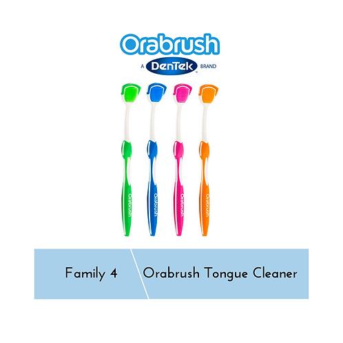 OraBrush Tongue Cleaner Family 4
