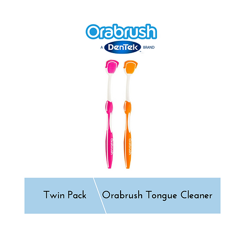 OraBrush Tongue Cleaner Twin Pack