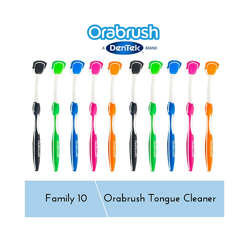OraBrush Tongue Cleaner Family 10