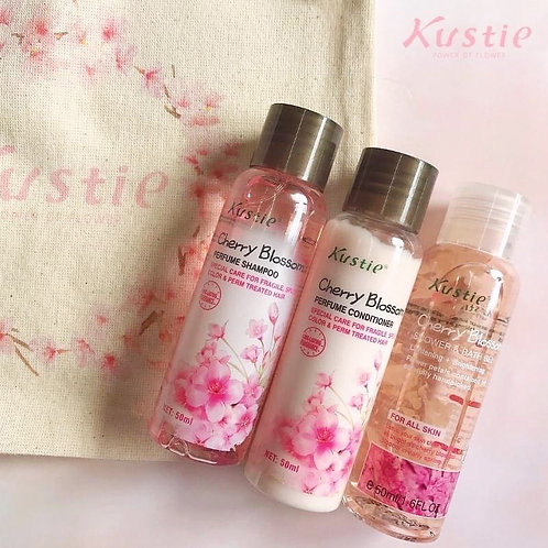 Special Kustie Satchel Edition: Cherry Blossom 3 in 1 Travel Set