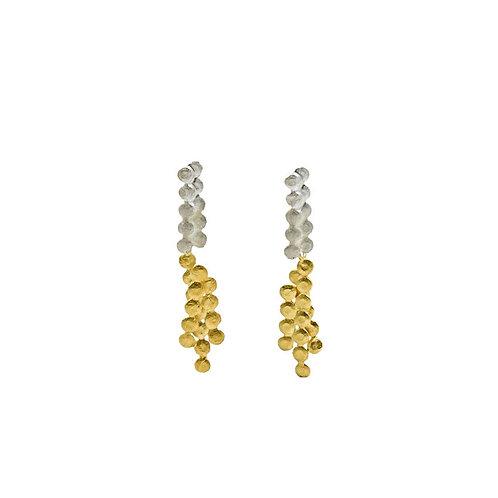 Dangle Double Colored Dot Earrings