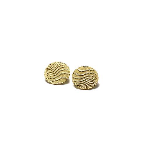 Stud Wave Earrings