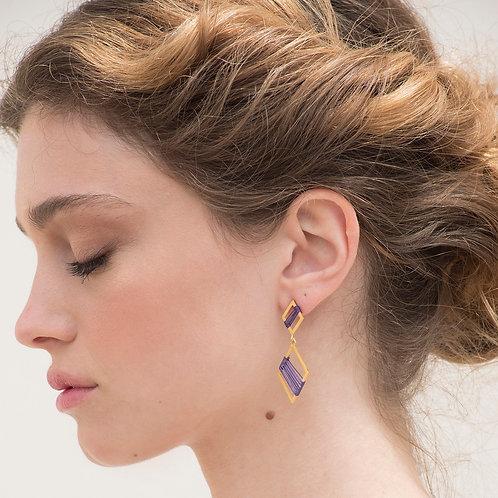 Double Rhombus Earrings