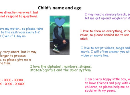 """""""About Me""""... Communication Tool for Summer Camps"""