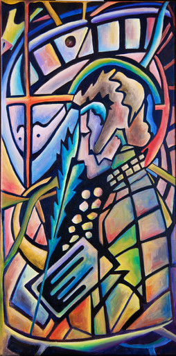 "Tatyana Galtseva, The cycle ""Stained glass""."