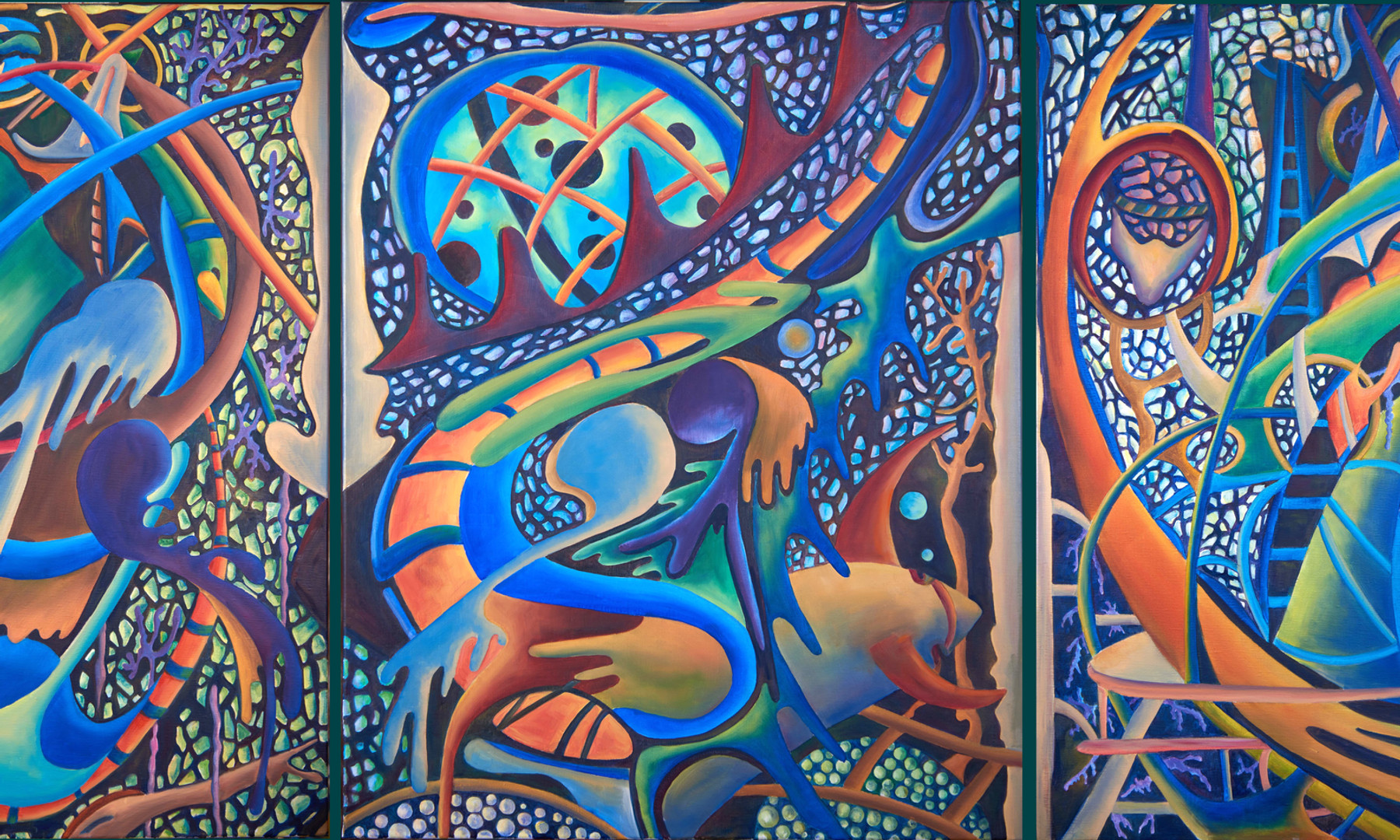 """Leviathan"" , 2  /  Triptych  / 2016"