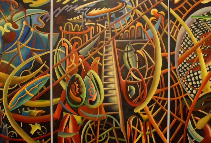 """Вавилонская башня"" / триптих / 2016 г,"