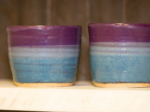 Wine Goblet Set of 2 in Blue & Purple