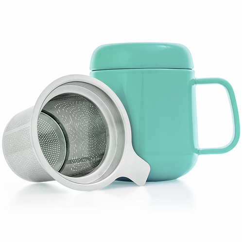 Tealyra Sumo Ceramic Mug With Infuser 13.5 oz.