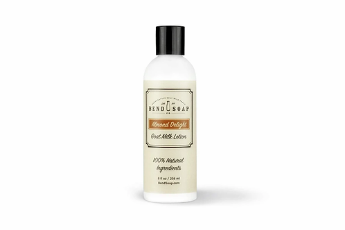 Almond Delight Goat Milk Lotion (8oz) by Bend Soap