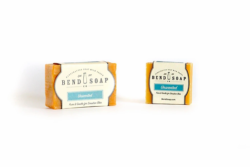 Unscented Goat Milk Soap Full Size (4.5oz) by Bend Soap