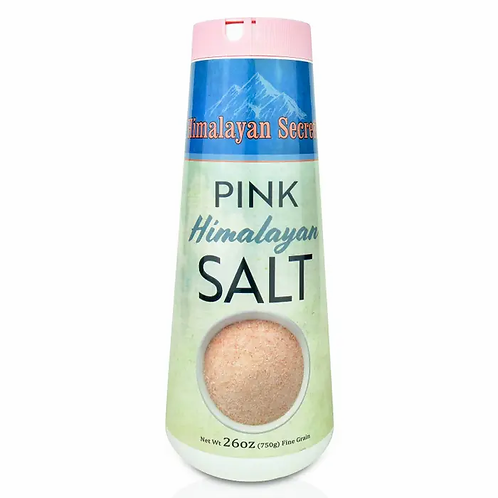 26 oz Edible Himalayan Dark Pink Salt - Fine Shaker