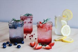 Soda Splash: Blueberry, Pomegranate, Strawberry, Lemon