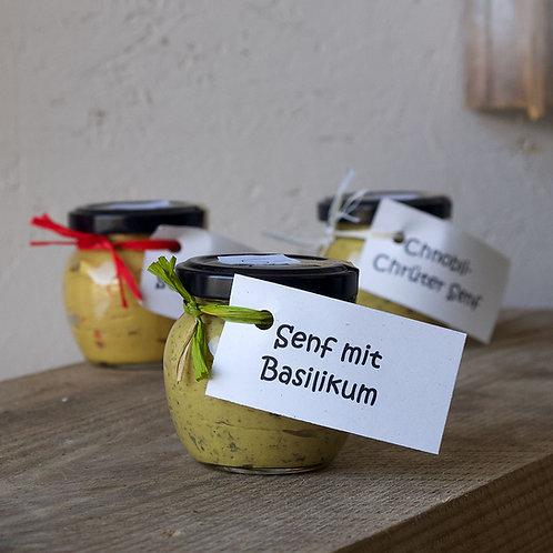 Senf mit Basilikum