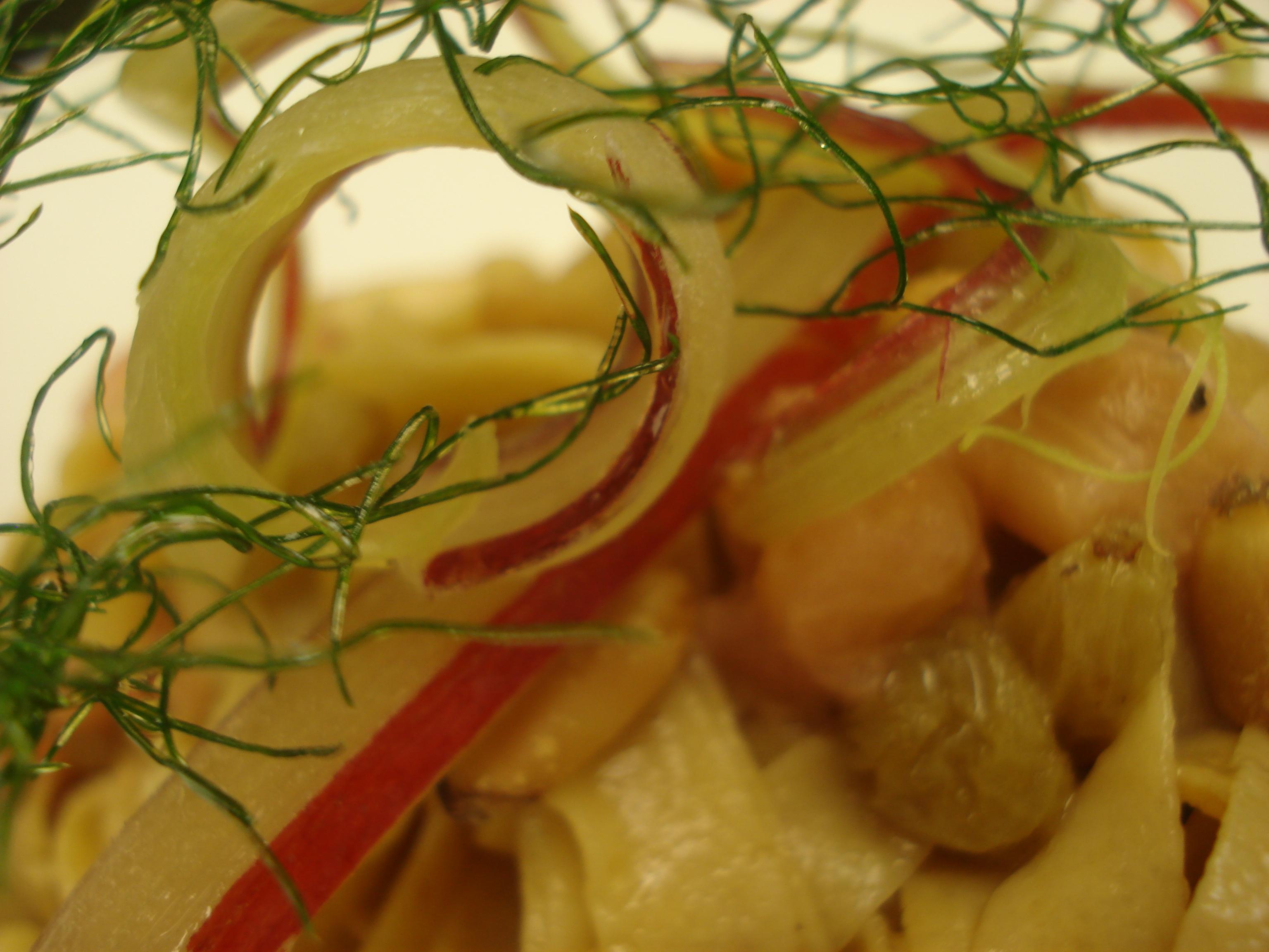 Rhubarb & Fennel Tagliatelle Pasta